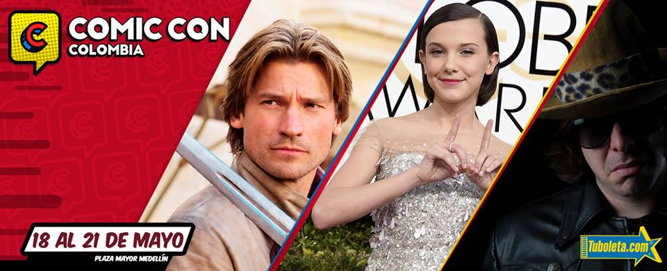 Nikolaj Coster-Waldau, Millie Bobby Brown y El Diario de Dross, estarán presentes en la Comic Con Colombia 2017